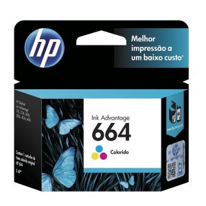 Kit De Cartuchos De Tinta Ink Advantage Hp Suprimentos F6v28ab Hp 664 Tricolor 2,0 Ml + F6v29ab Hp 6